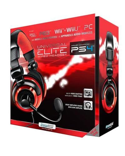 Detalhes do produto acs headset dreamgear univ elite 02571 verm