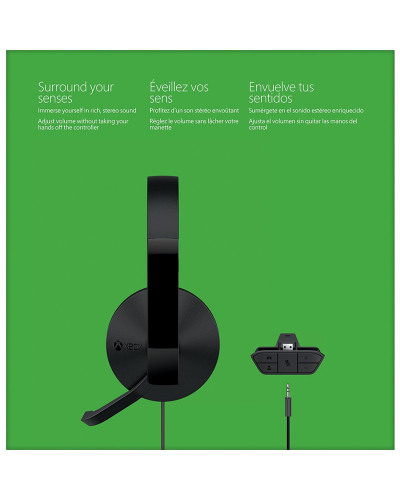 Detalhes do produto xbox one acs headset c fio c adapter 1626  black