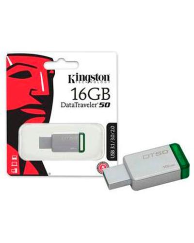Detalhes do produto pen drive 16gb kingston dt50 silver