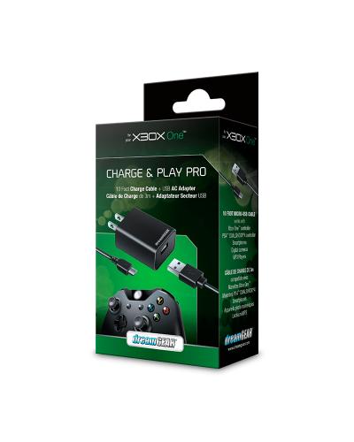 Detalhes do produto xbox one acs charge play dreamgear 3mts
