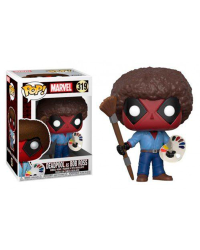 Detalhes do produto pop marvel 319 deadpool as bob ross 30865