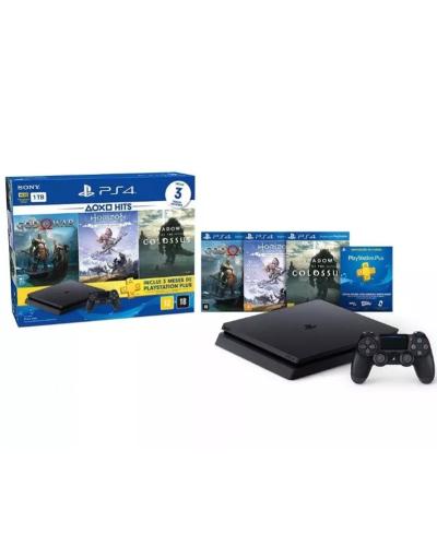 Detalhes do produto console ps4 01 tb cuh 2215b black 3cds shadow
