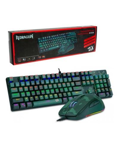 Detalhes do produto redragon teclado   mouse camuflado s108 ingles