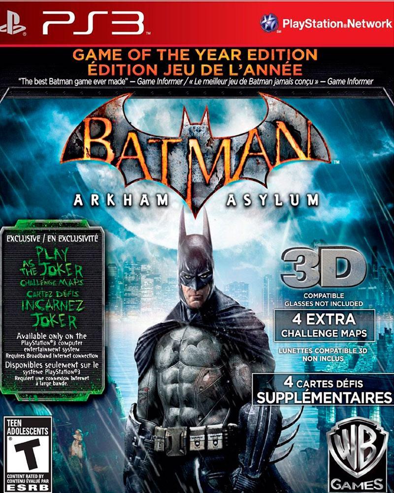sony 3 batman arkham asylum  3d