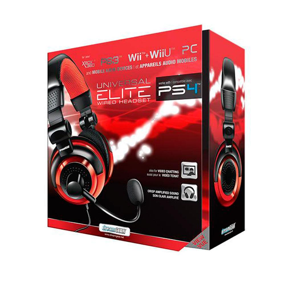 acs headset dreamgear univ elite 02571 verm
