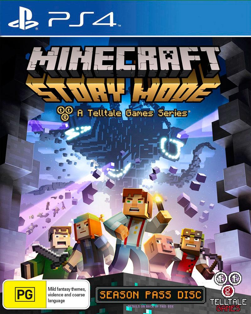 sony4 minecraft story mode adventure