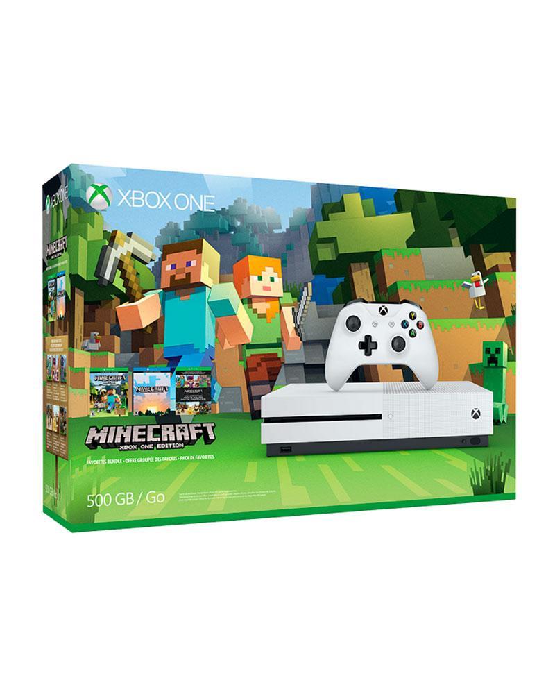 con xbox  one  slim 500gb minecraft