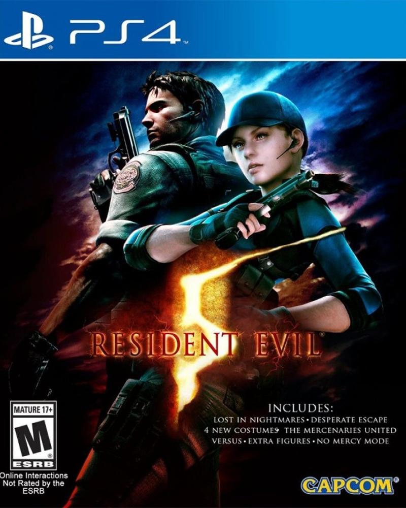 sony4 resident evil 5 hd