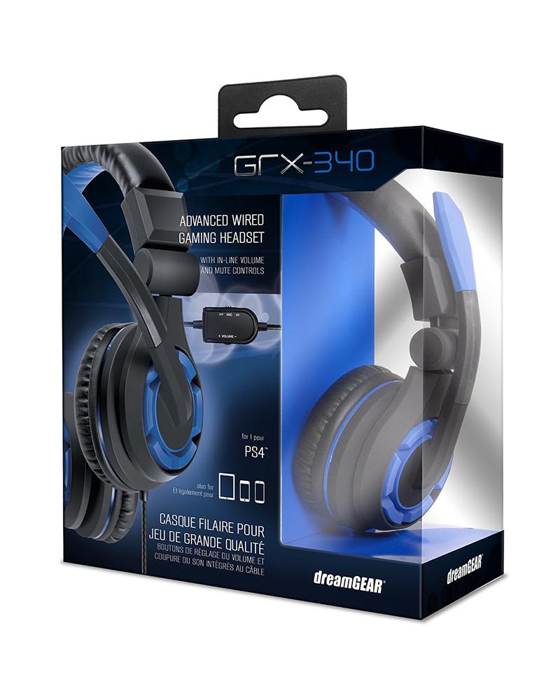 dreamgear headset grx 340 ps4 06427 azul