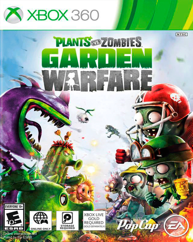 xbox 360 plants vs zombies garden
