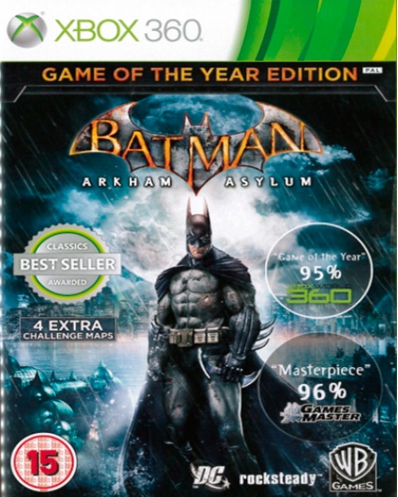 xbox 360 batman arkham asylum goty