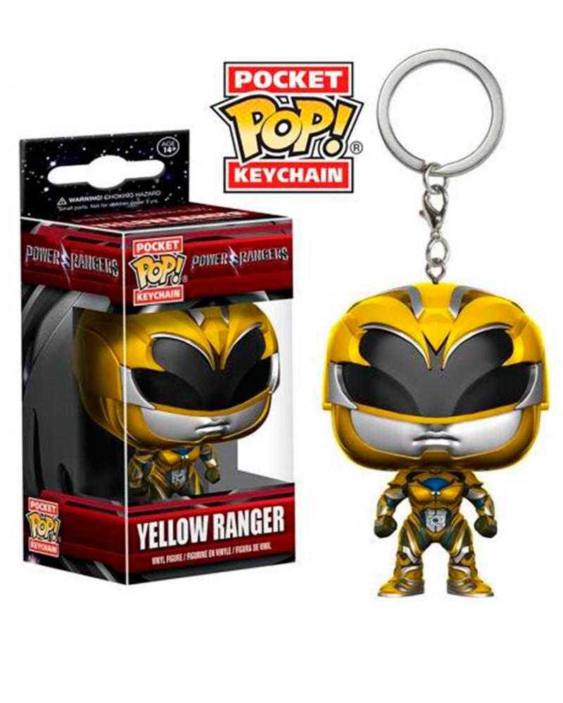 pop chaveiro power rangers yellow ranger 12350