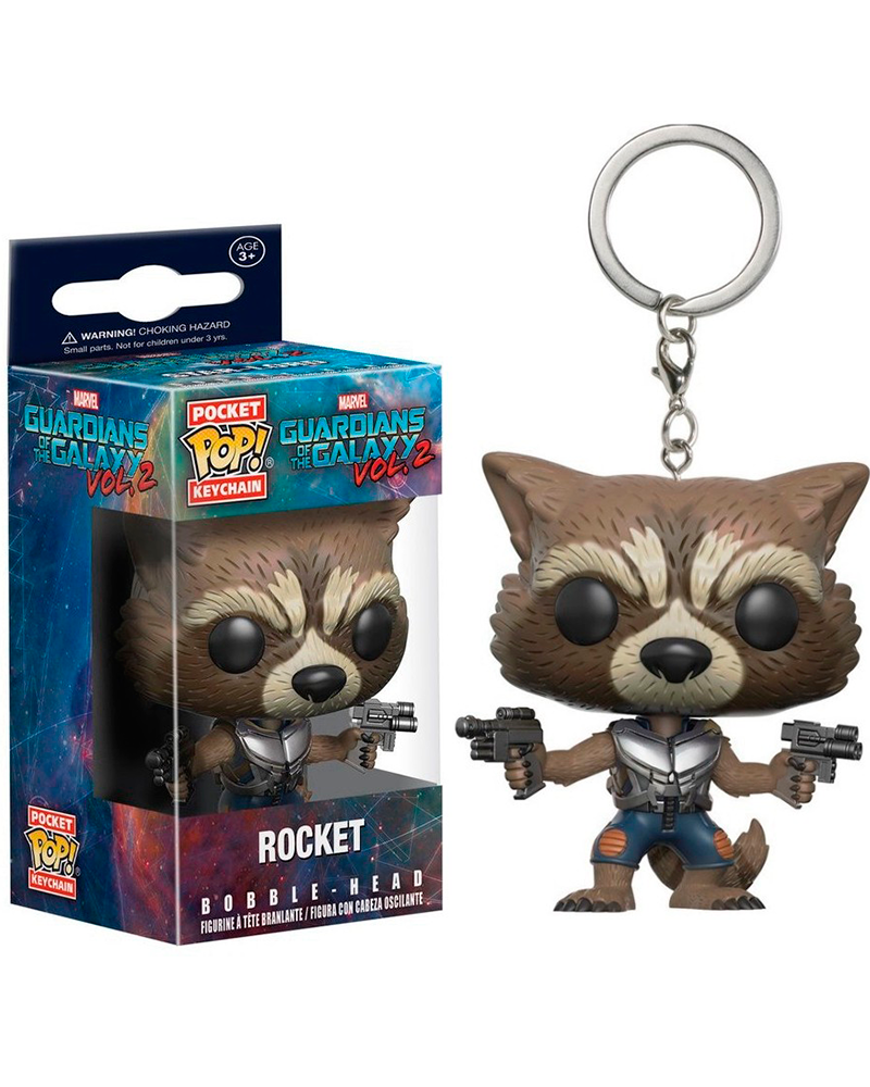 pop chaveiro guardians galaxy vol2 rocket 13217