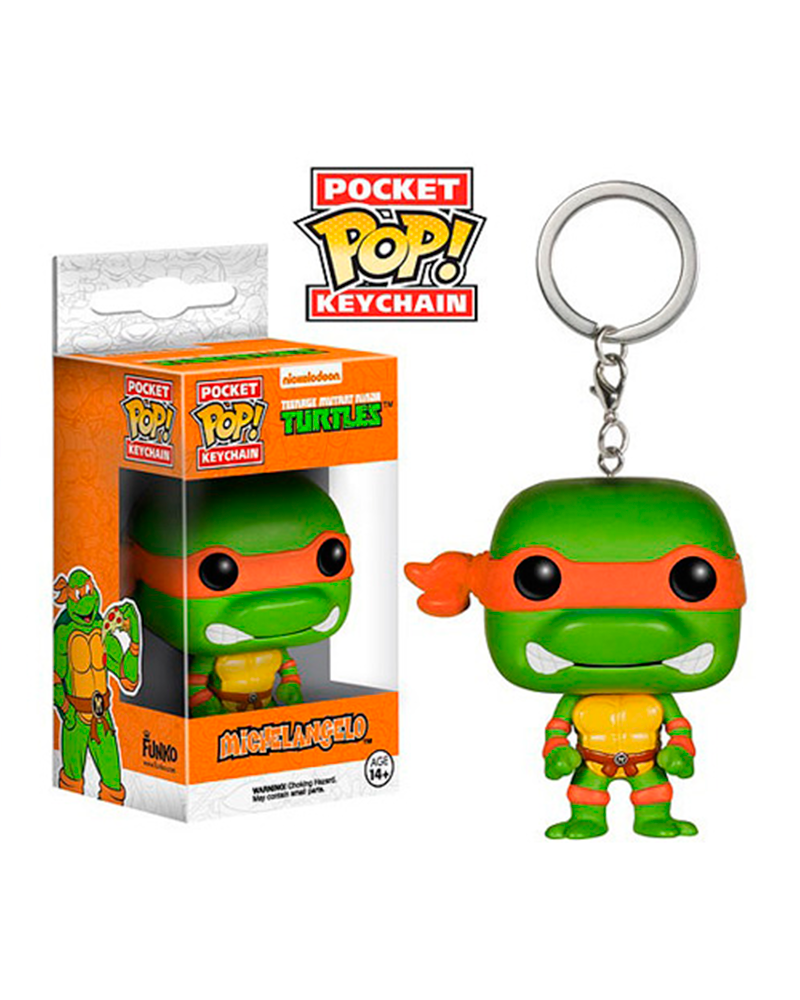 pop chaveiro turtles michelangelo