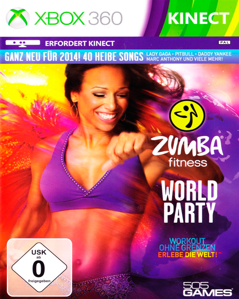 xbox 360 k   zumba fitness word party