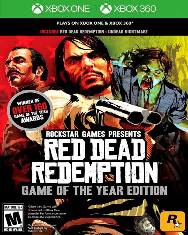 xbox one red dead redemption goty x360