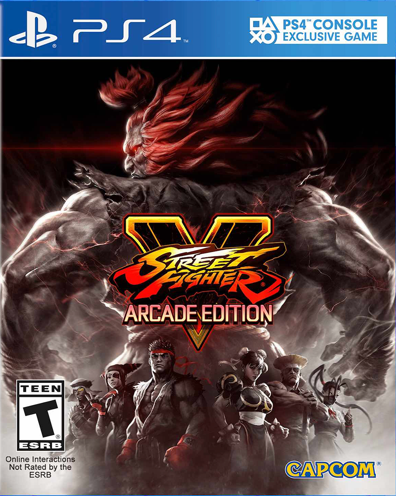sony4 street fighter 5 arcade edition