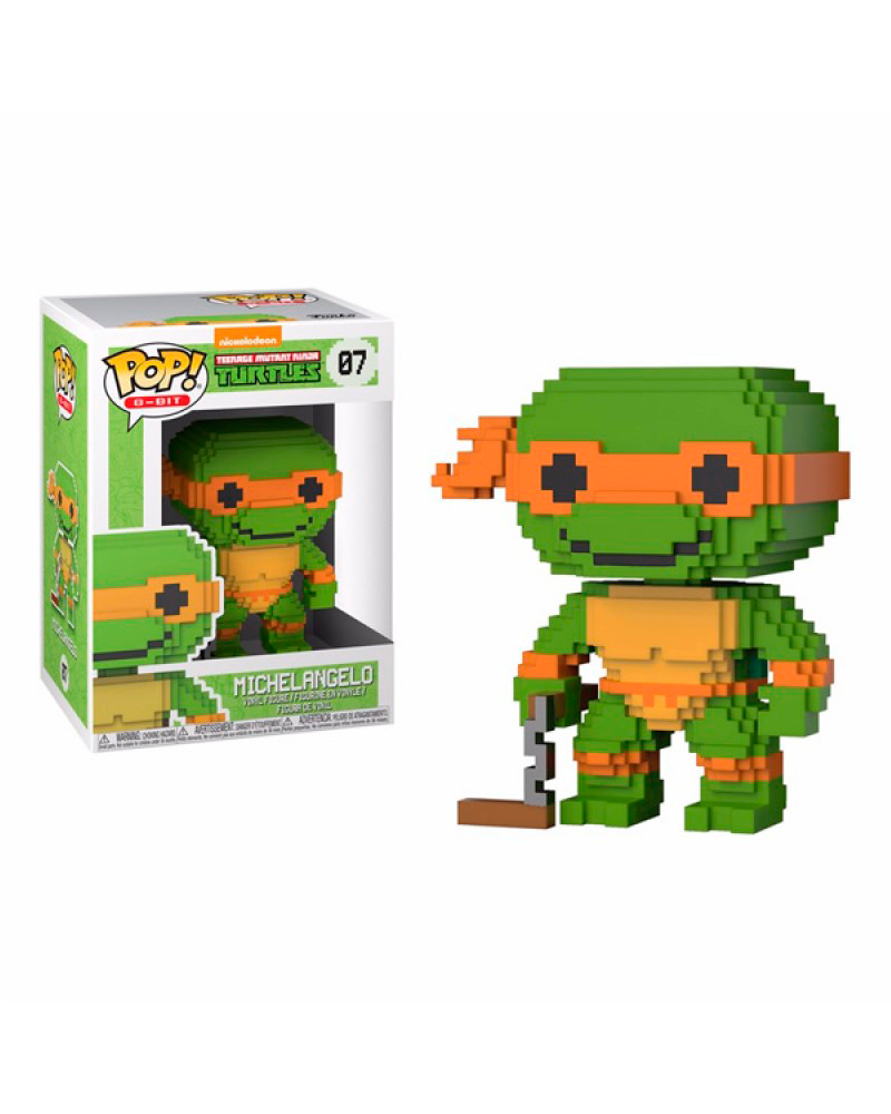 pop turtles 8 bit   07 michelangelo 22986