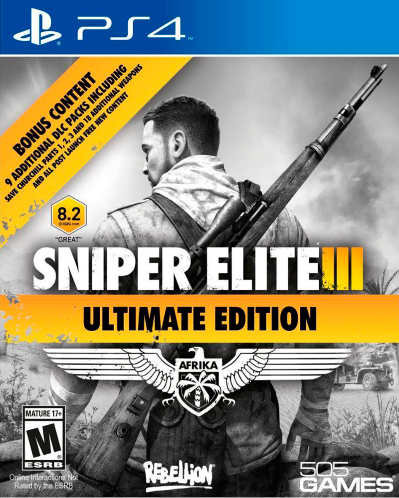 sony4 sniper elite 3 ultimate