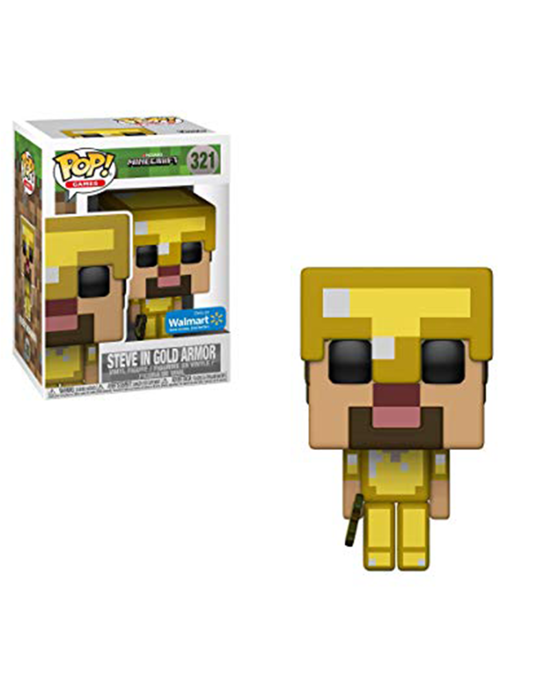 pop minecraft 321 steve in gold armor 26418
