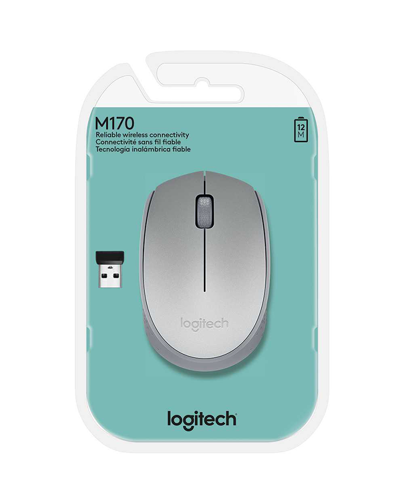 pc mouse wrls logitech m170 grey