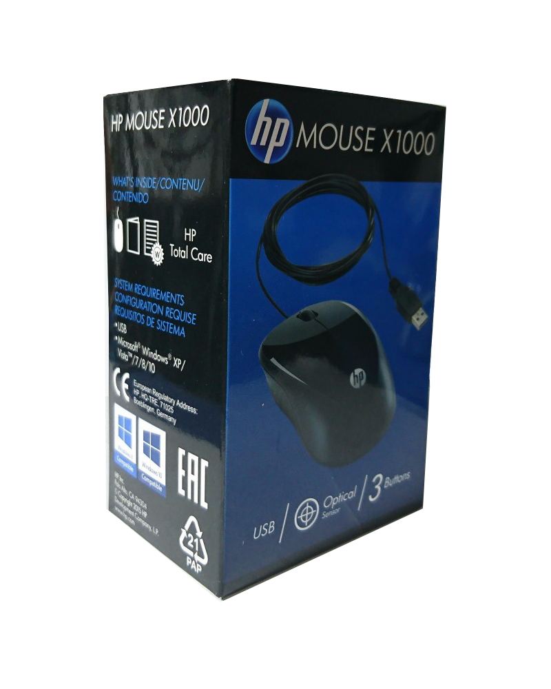pc mouse usb hp x1000
