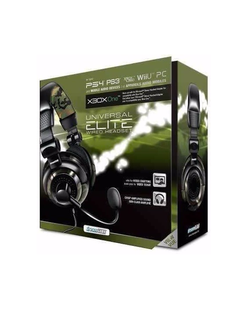 acs headset dreamgear grx elite camuflado 02574